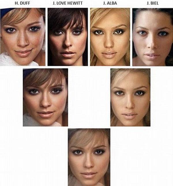 Что если совместить фотографии самых красивых женщин мира. Получится