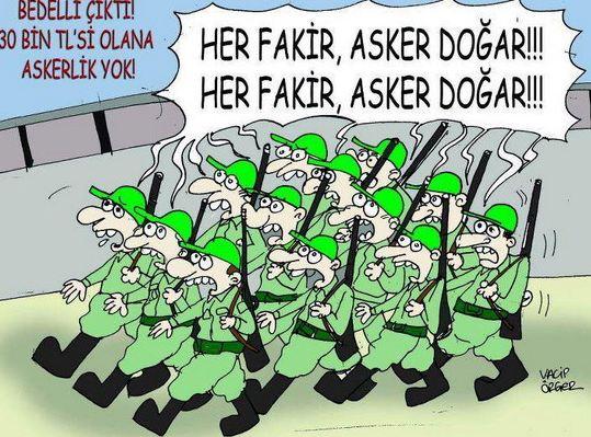 Bedelli askerlik karikatürleri
