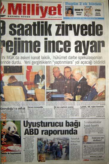 28 Şubat'ta gazete manşetleri