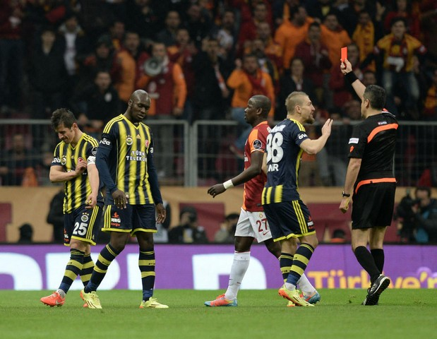 Galatasaray - Fenerbahçe derbi görüntüleri