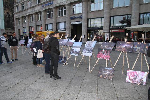 Köln'de 15 Temmuz Fotoğraf Sergisi