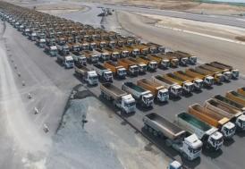 Üçüncü havalimanında 1453 kamyon ile fethe özel tören