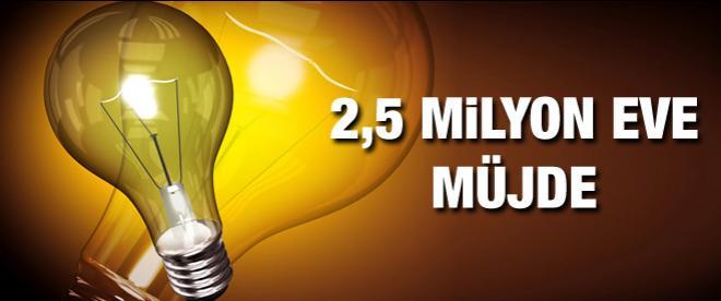 2.5 milyon eve elektrik müjdesi