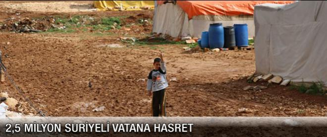 2,5 milyon Suriyeli vatan hasreti çekiyor