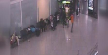 Havalimanındaki çanta hırsızlığı kamerada !