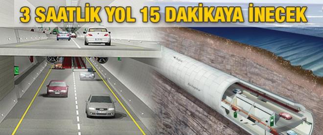 Avrasya Tüneli ile Kazlıçeşme'den Göztepe'ye 15 dakikada gidebileceğiz