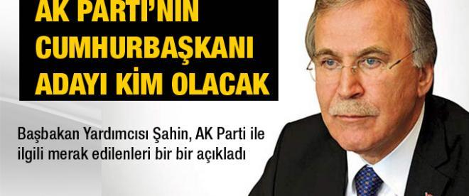 AK Parti'nin Cumhurbaşkanı adayı kim?