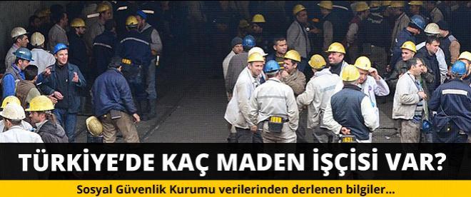 Türkiye'de kaç maden işçisi çalışıyor!