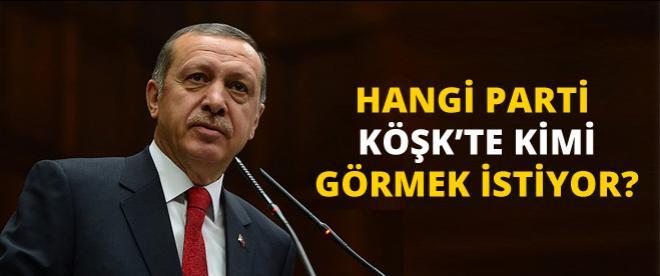 Anketler Köşk için Erdoğan diyor!