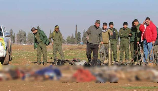 Öldürülen militanları sergilediler