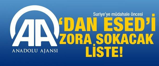 Anadolu Ajansı Esed'i zora sokacak