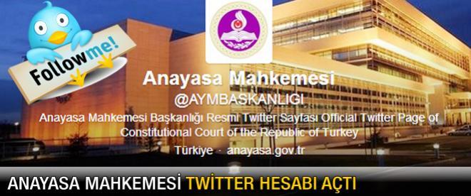 Anayasa Mahkemesi Twitter hesabı açtı