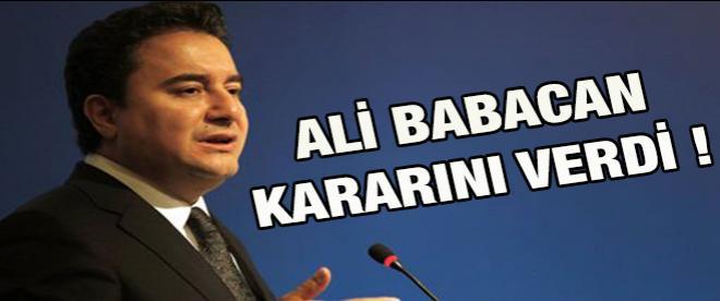 Ali Babacan kararını verdi