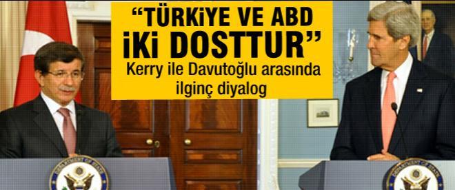 Davutoğlu mevkidaşı Kerry'le görüştü