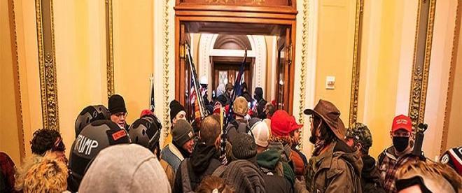 ABDde Trump destekçileri polis barikatını aşarak Kongre binasına girdi