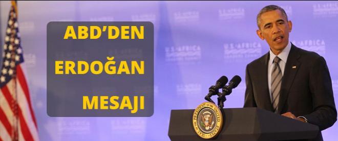 ABD'den Erdoğan mesajı