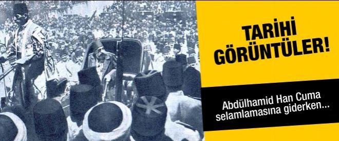 II. Abdülhamid cuma selamlığına giderken