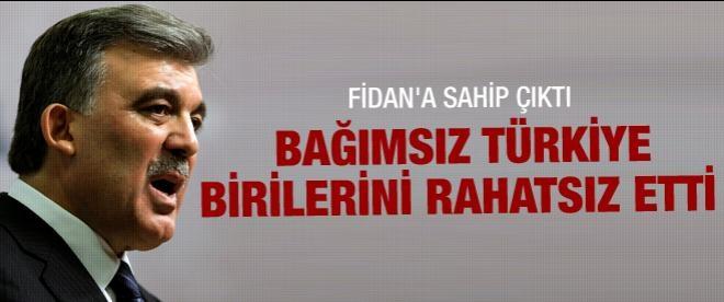 Gül'den Hakan Fidan açıklaması