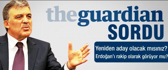 Abdullah Gül adaylık için ne dedi?