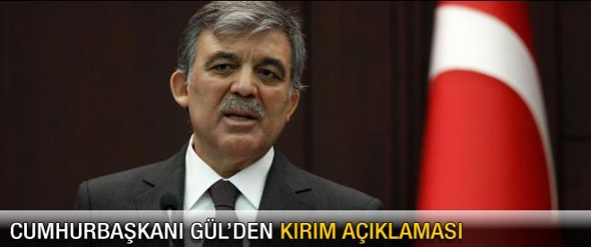 Abdullah Gül'den Kırım açıklaması