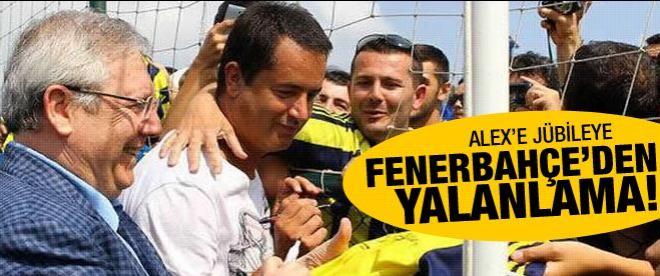 Alex'e jübileye Fenerbahçe'den yalanlama geldi