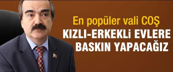 Adana Valisi Coş'tan kızlı-erkekli ev açıklaması
