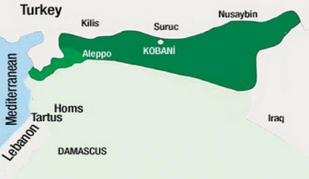 İngiliz The Timestaki Kürdistan haritası