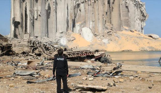 AFAD, patlamanın gerçekleştiği Beyrut Limanında arama kurtarma çalışmalarına başladı