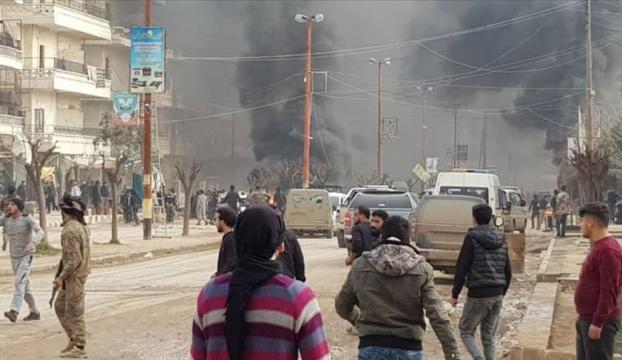 Afrinde bomba yüklü tankerle terör saldırısı