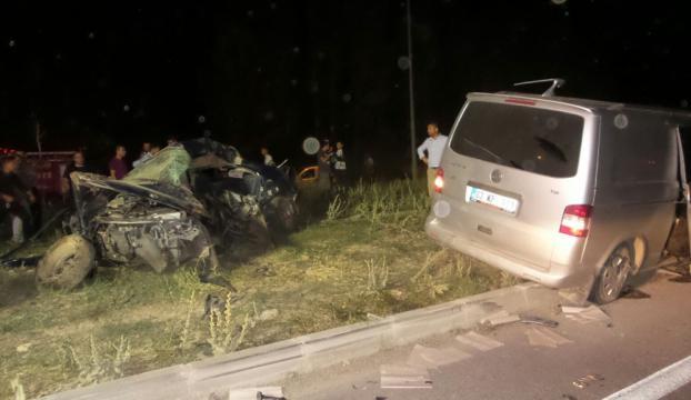 Afyonda feci kaza: 4 ölü, 3 yaralandı