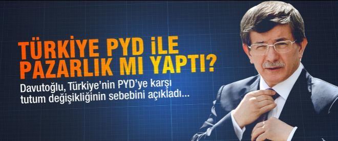 Davutoğlu'ndan PYD açıklaması