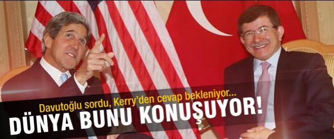 Davutoğlu, Kerry'ye 'dinleme skandalı'nı sordu