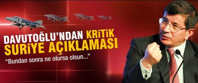 Davutoğlu'ndan kritik Suriye açııklaması