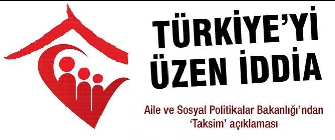 Bakanlık'tan Taksim açıklaması