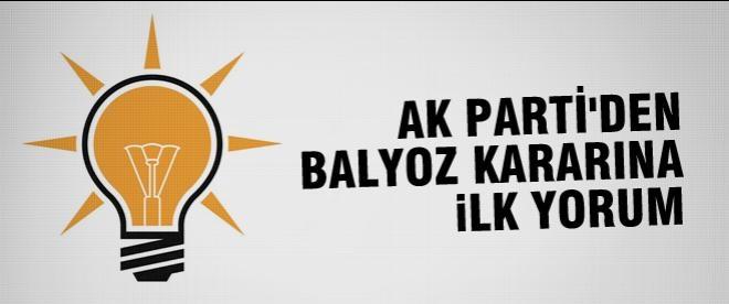 AK Partili Elitaş'tan Balyoz kararı için ilk açıklama