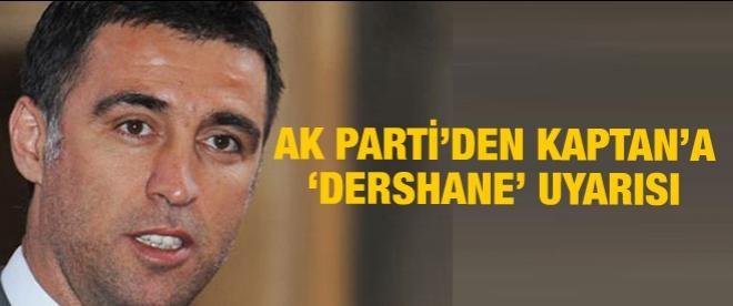 AK Part'den Hakan Şükür'e uyarı