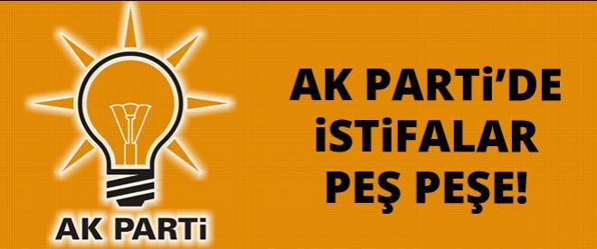 AK Parti'de istifalar