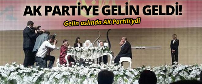AK Parti'ye gelin geldi