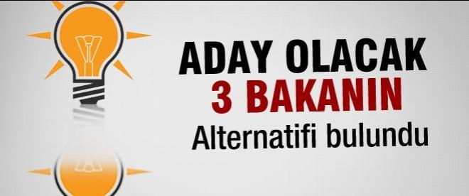 AK Parti kabinede 3 bakanı değiştirecek