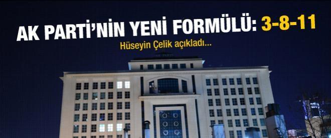 AK Parti'den sandıkta 3-8-11 formülü