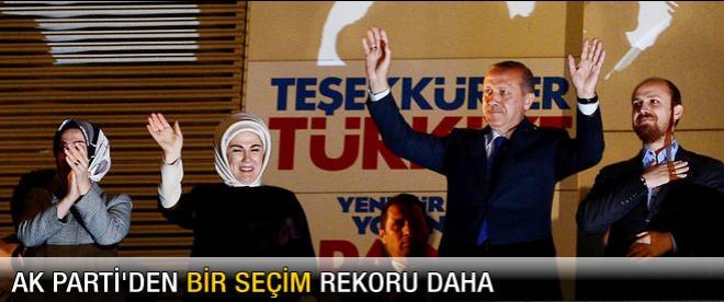 AK Parti'den bir seçim rekoru daha!
