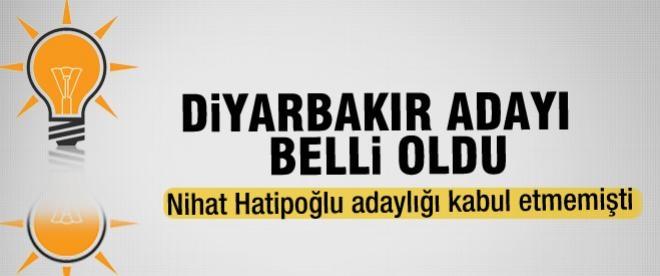 Ak Parti'nin Diyarbakır adayı belli oldu