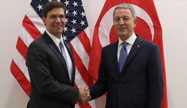 Bakan Akar ile ABD Savunma Bakanı Vekili Esper görüşüyor