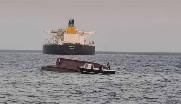 Akdenizde Yunan bayraklı tanker ile Türk balıkçı teknesi çarpıştı