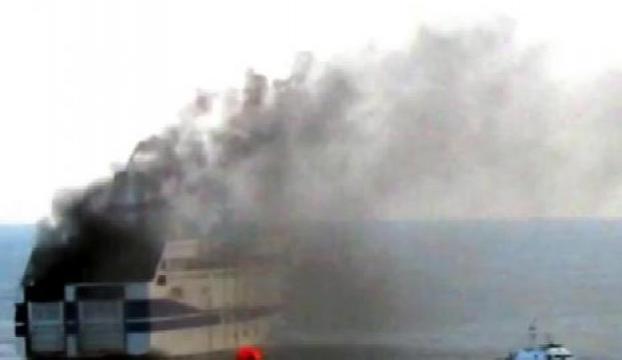 Yanan feribottan 178 kişi kurtarıldı