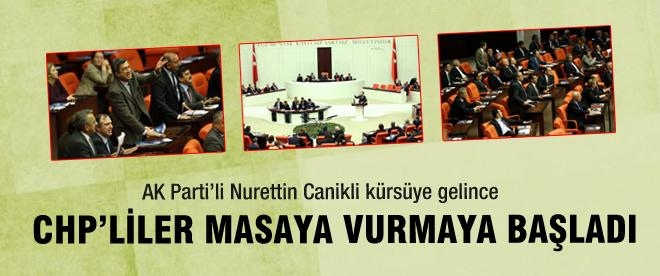 CHP'liler Canikli'yi konuşturmadı