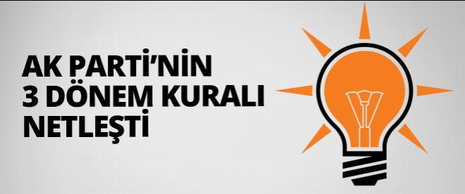 AK Parti'de 3 dönem kuralı netleşti