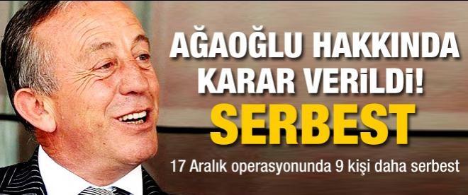 Ali Ağaoğlu serbest bırakıldı