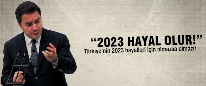 """Babacan: """"Çözüm süreci olmazsa 2023 hayal olur"""""""