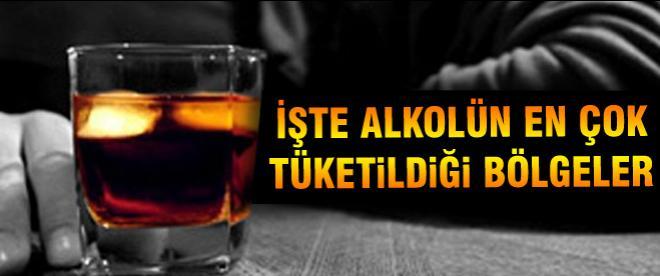 Alkolün fazla tüketildiği bölgeler